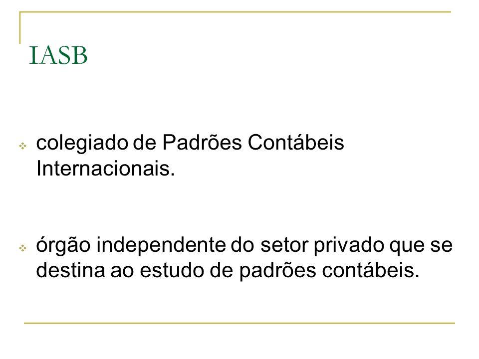 IASB colegiado de Padrões Contábeis Internacionais.