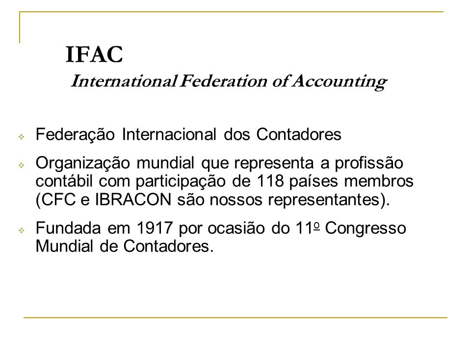 IFAC International Federation of Accounting
