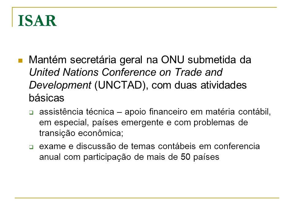 ISAR Mantém secretária geral na ONU submetida da United Nations Conference on Trade and Development (UNCTAD), com duas atividades básicas.