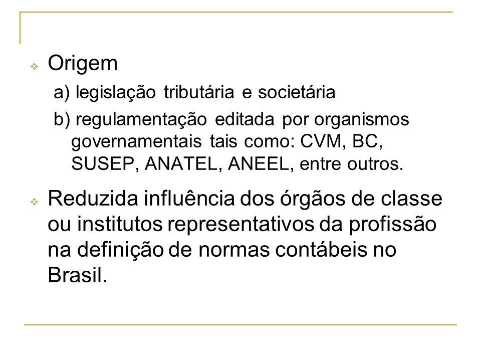 Origema) legislação tributária e societária.