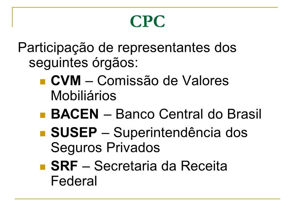 CPC Participação de representantes dos seguintes órgãos: