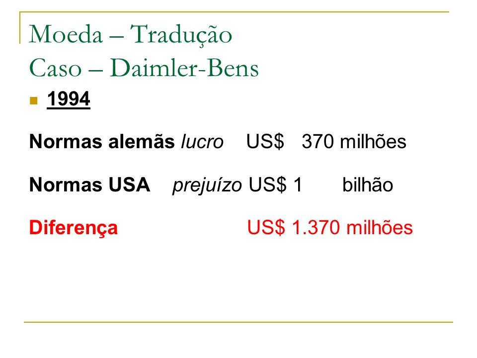 Moeda – Tradução Caso – Daimler-Bens