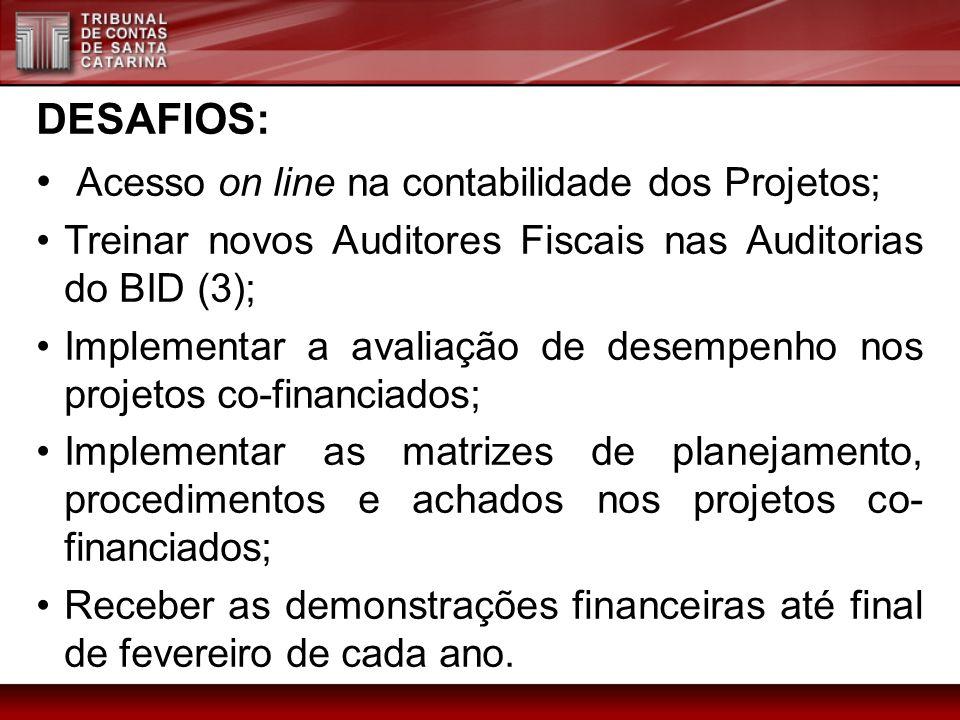 Acesso on line na contabilidade dos Projetos;