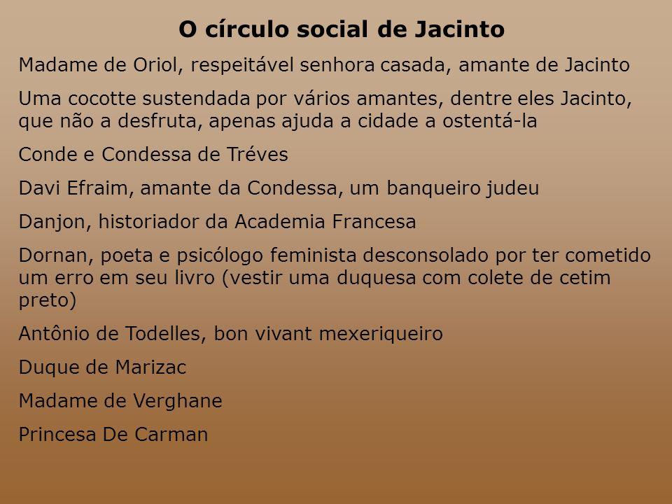 O círculo social de Jacinto