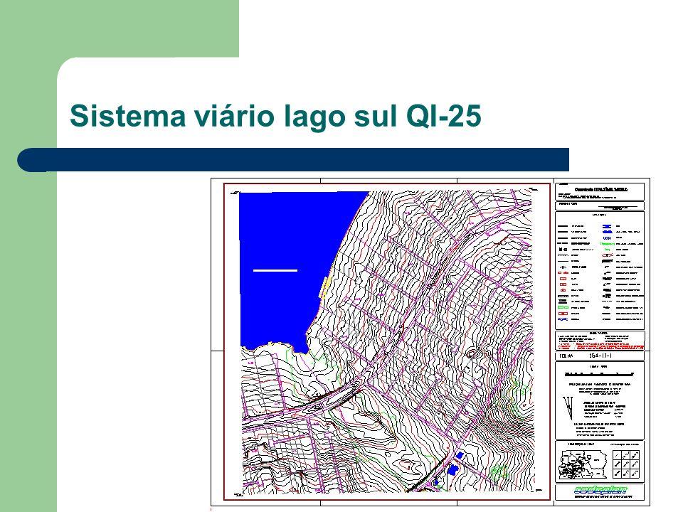 Sistema viário lago sul QI-25