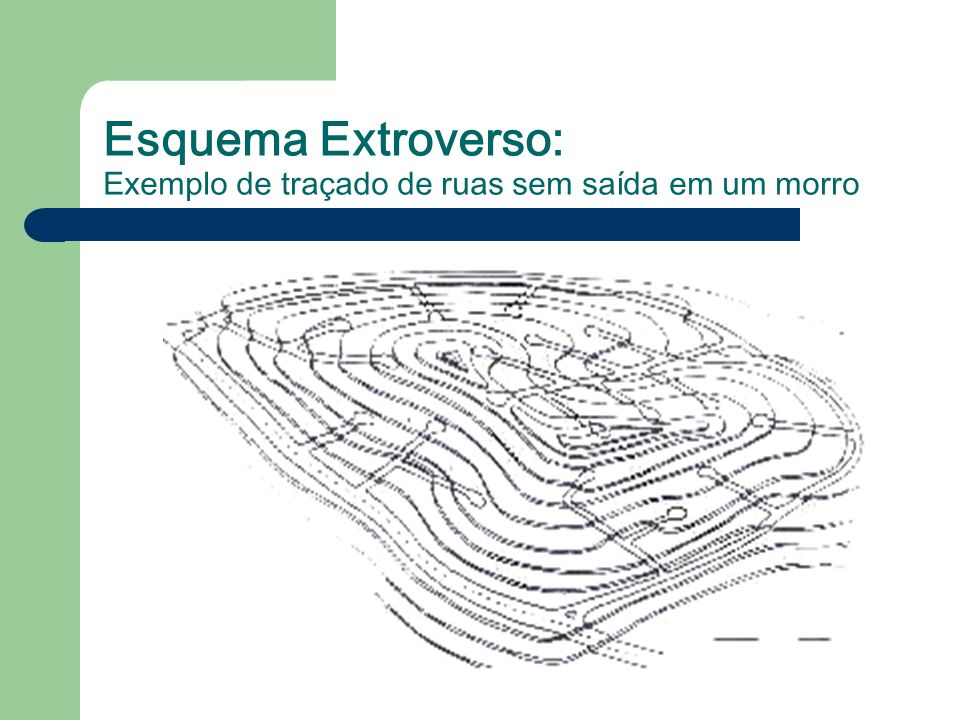 Esquema Extroverso: Exemplo de traçado de ruas sem saída em um morro