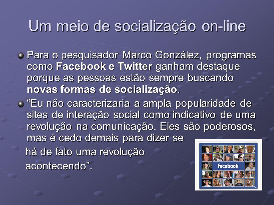 Um meio de socialização on-line