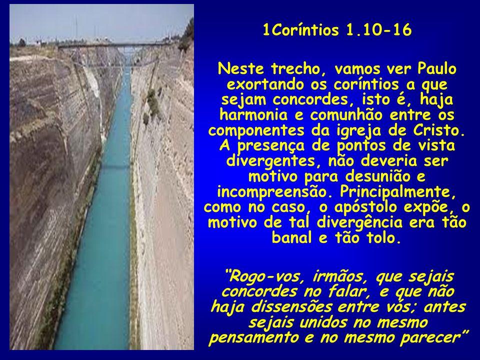 1Coríntios 1.10-16