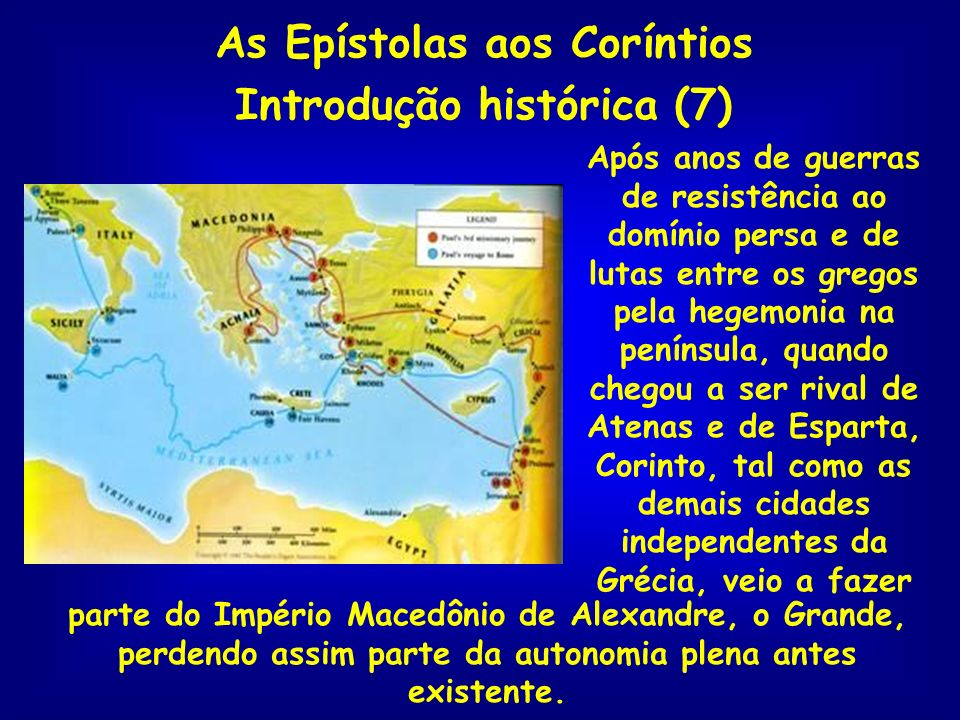 As Epístolas aos Coríntios Introdução histórica (7)