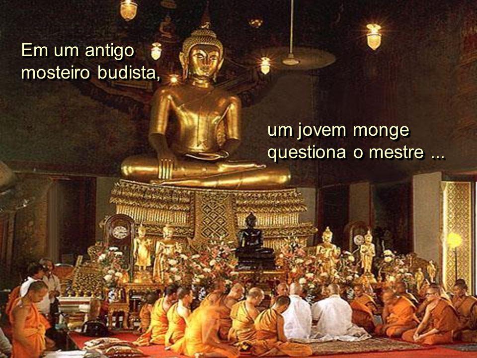 Em um antigo mosteiro budista,