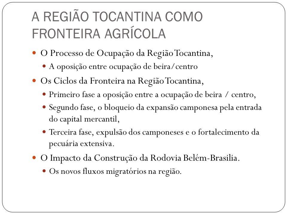 A REGIÃO TOCANTINA COMO FRONTEIRA AGRÍCOLA