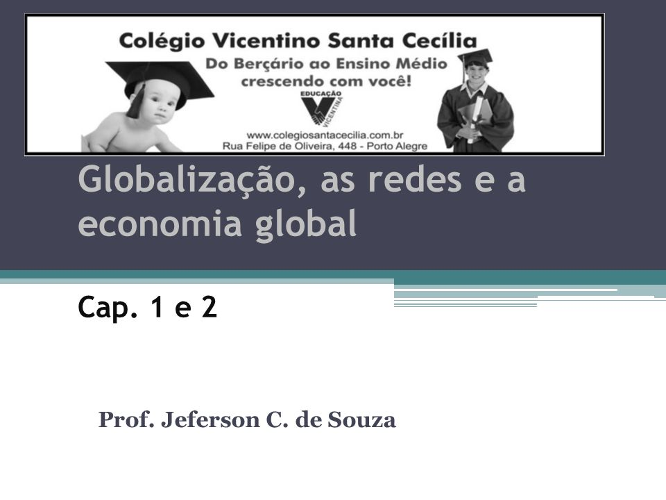Globalização, as redes e a economia global Cap. 1 e 2