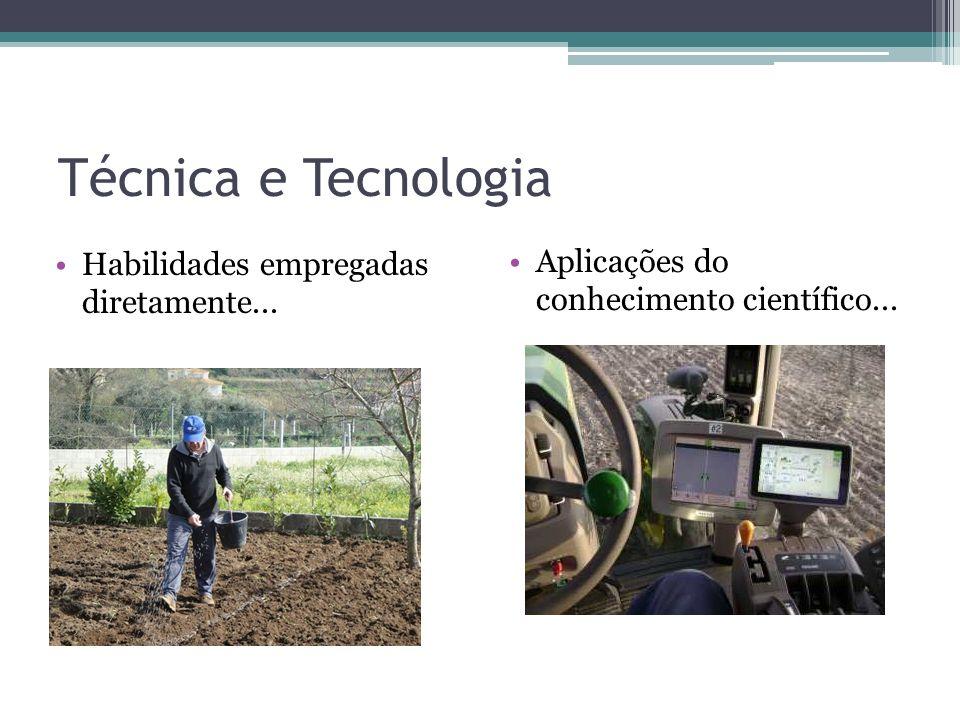 Técnica e Tecnologia Habilidades empregadas diretamente...