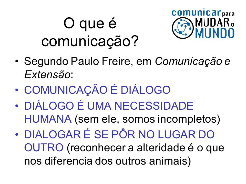 O que é comunicação Segundo Paulo Freire, em Comunicação e Extensão: