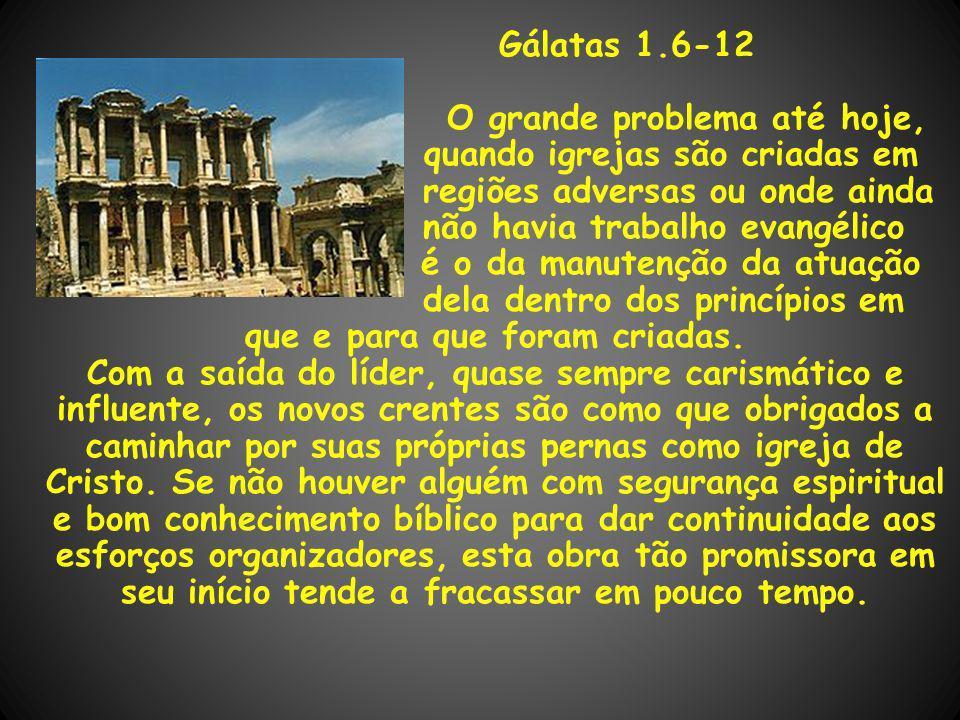 O grande problema até hoje, quando igrejas são criadas em