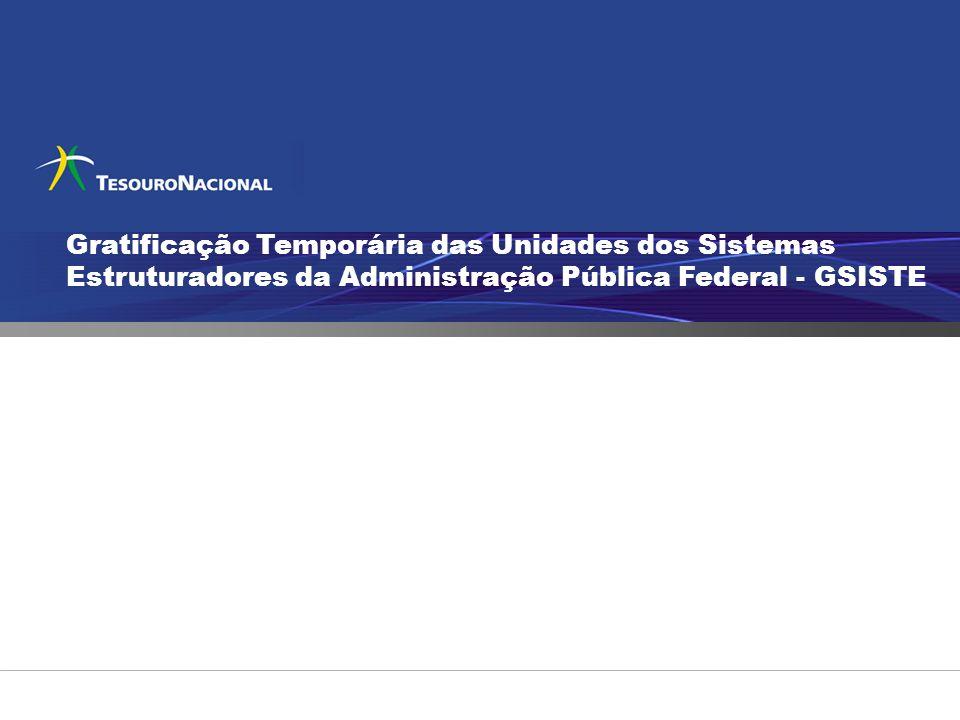 Gratificação Temporária das Unidades dos Sistemas Estruturadores da Administração Pública Federal - GSISTE