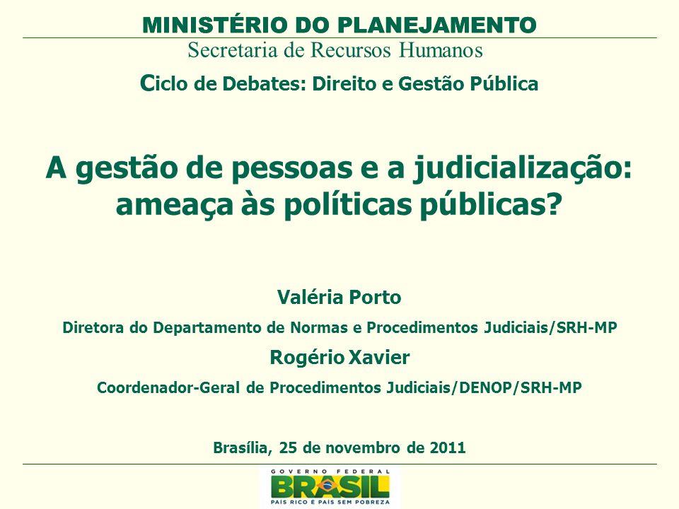 A gestão de pessoas e a judicialização: ameaça às políticas públicas