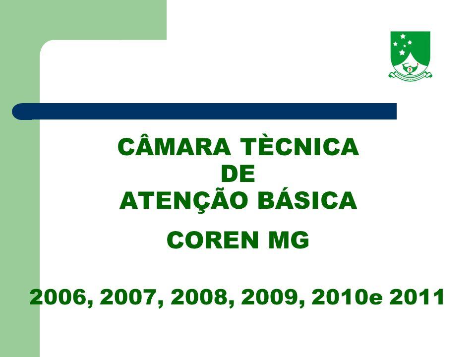 CÂMARA TÈCNICA DE ATENÇÃO BÁSICA COREN MG