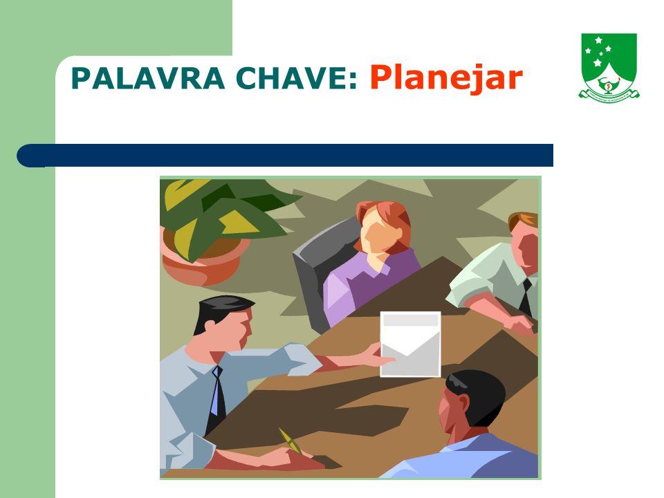 PALAVRA CHAVE: Planejar