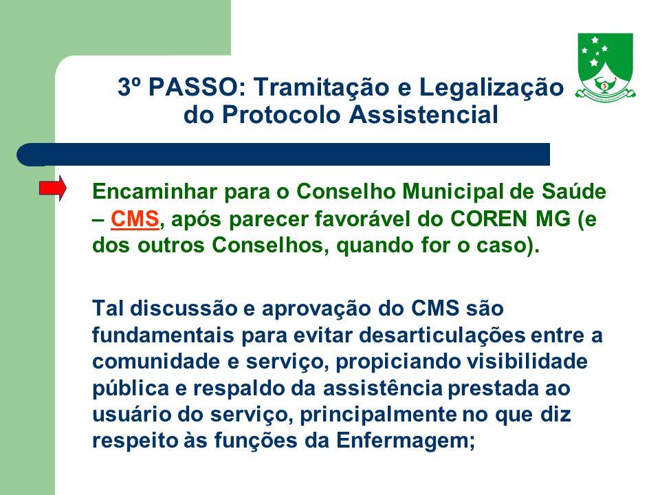 3º PASSO: Tramitação e Legalização do Protocolo Assistencial
