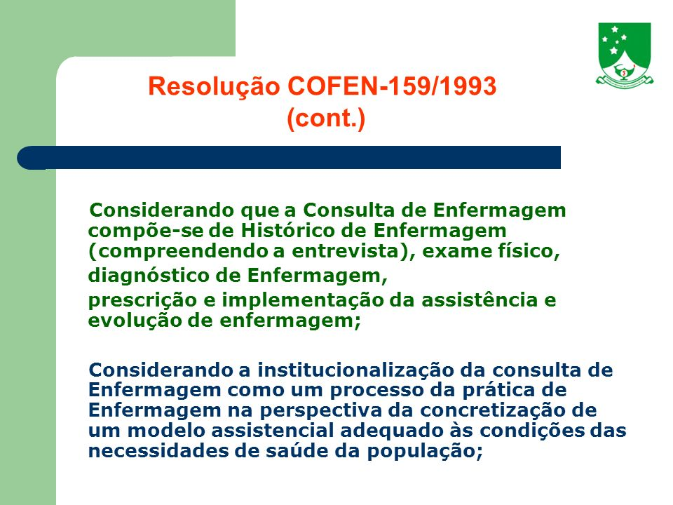 Resolução COFEN-159/1993 (cont.)