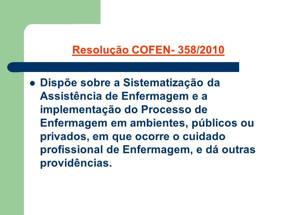 Resolução COFEN- 358/2010
