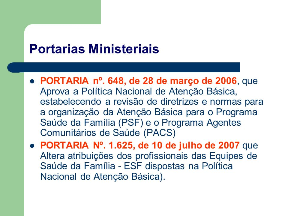 Portarias Ministeriais