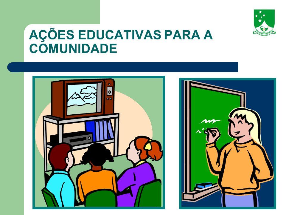 AÇÕES EDUCATIVAS PARA A COMUNIDADE