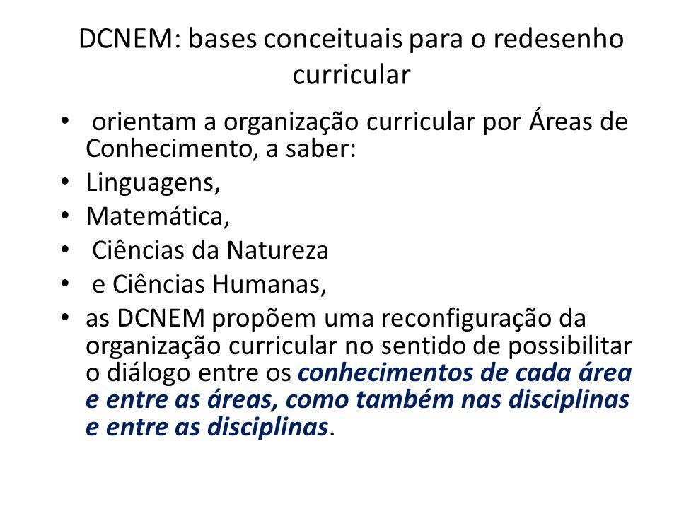 DCNEM: bases conceituais para o redesenho curricular