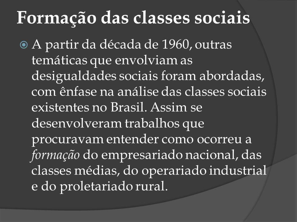 Formação das classes sociais
