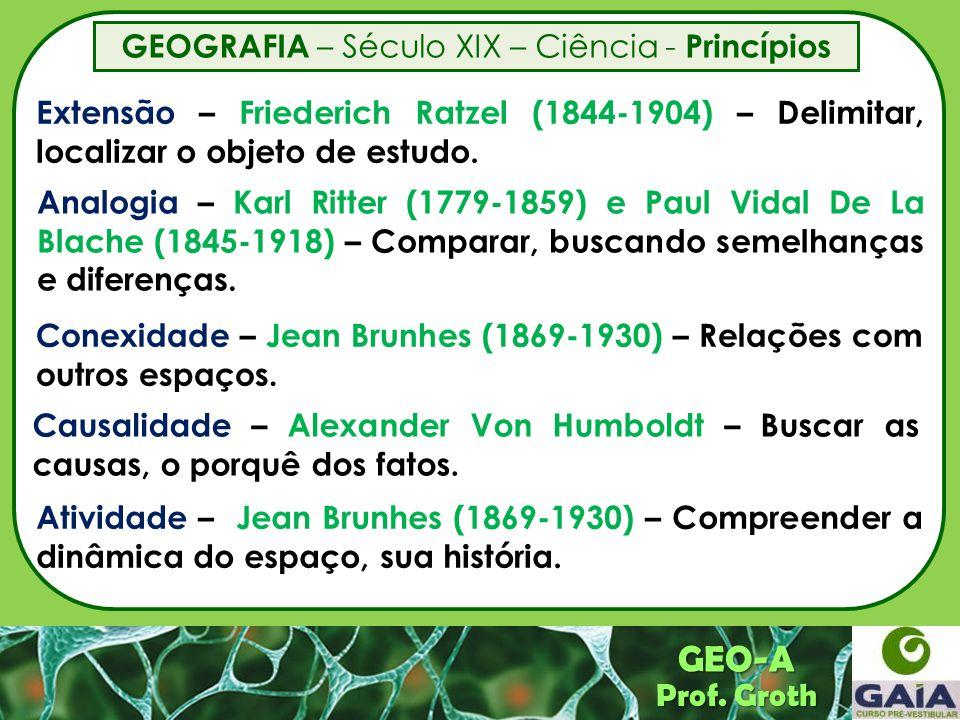 GEOGRAFIA – Século XIX – Ciência - Princípios
