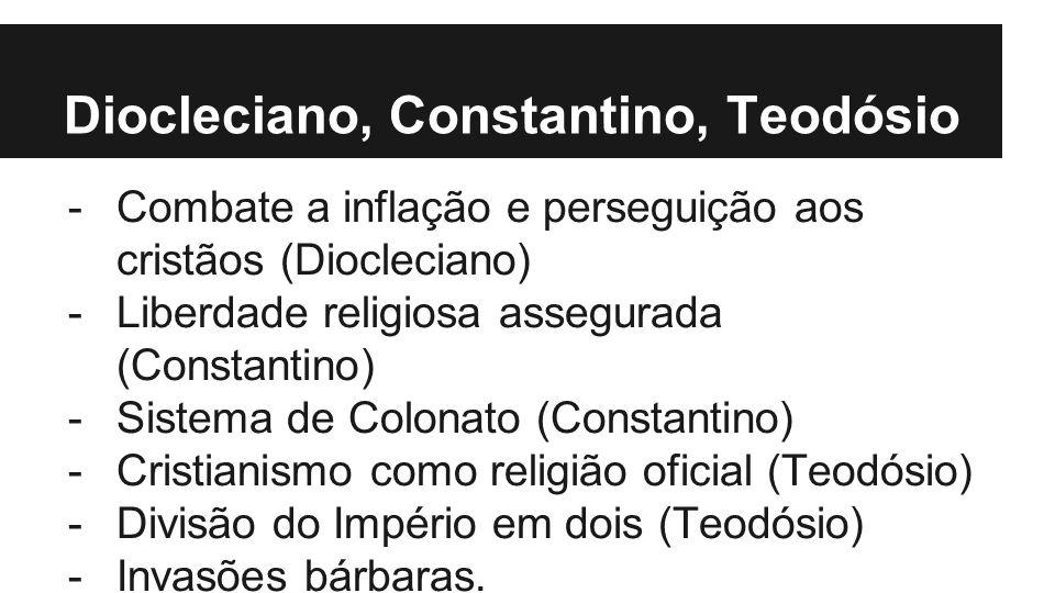 Diocleciano, Constantino, Teodósio