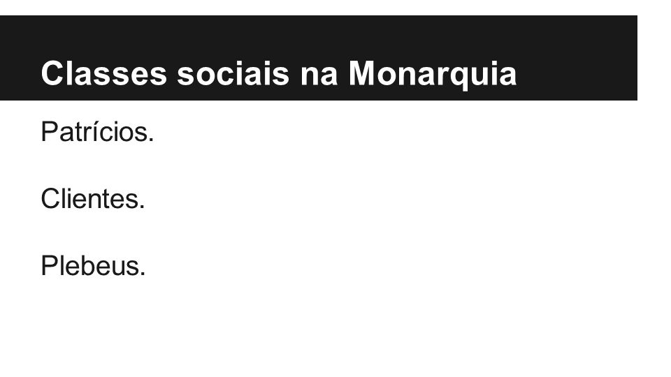 Classes sociais na Monarquia
