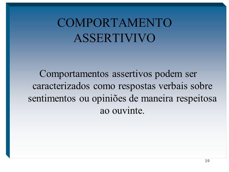 COMPORTAMENTO ASSERTIVIVO
