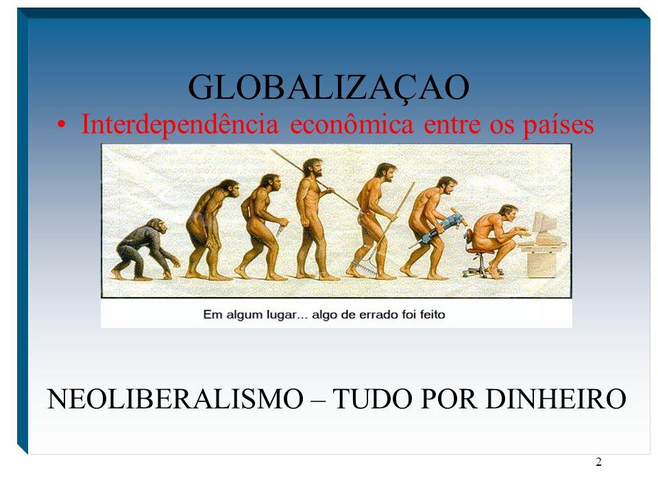 NEOLIBERALISMO – TUDO POR DINHEIRO