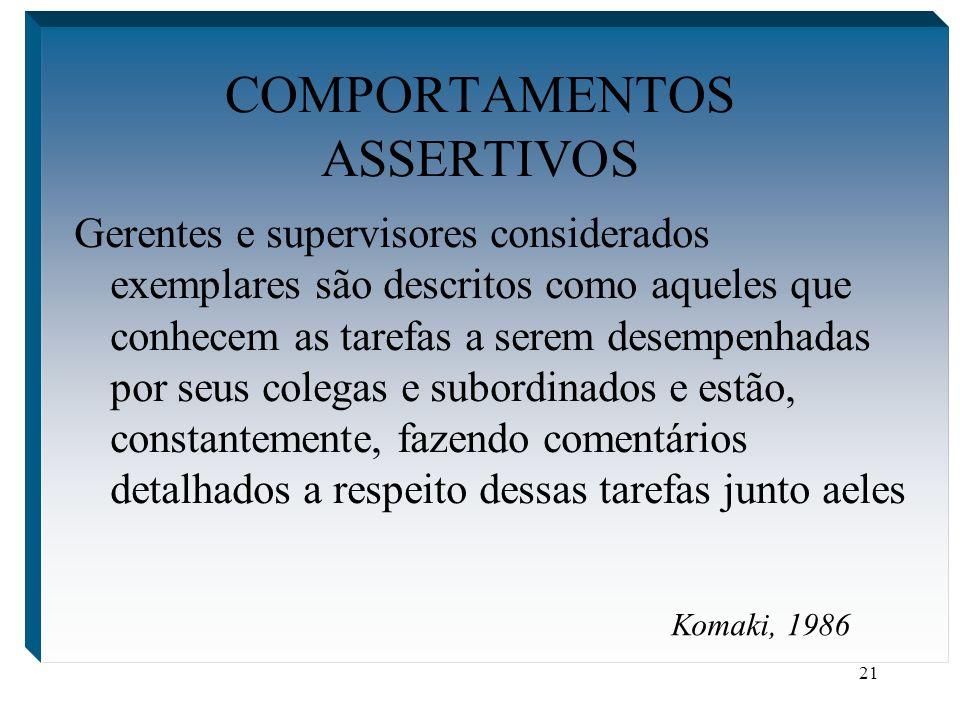 COMPORTAMENTOS ASSERTIVOS