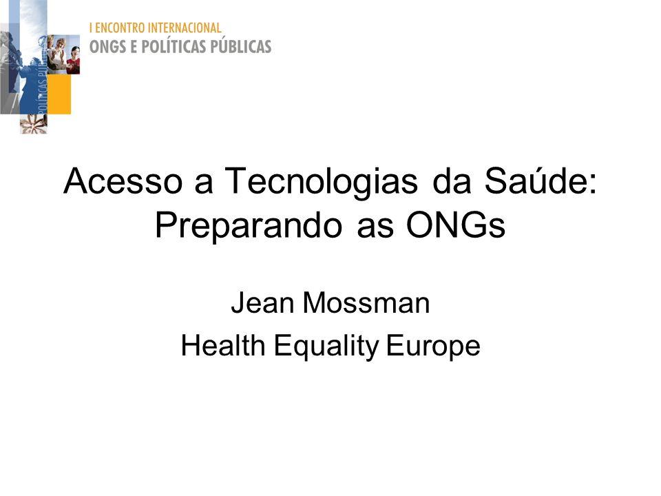 Acesso a Tecnologias da Saúde: Preparando as ONGs