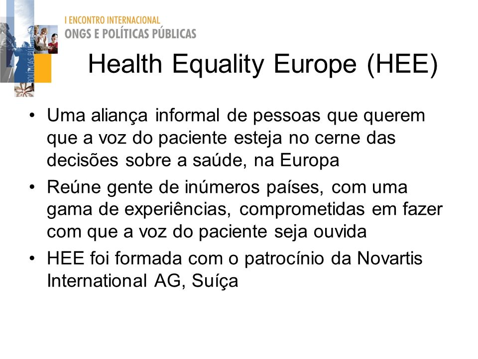 Health Equality Europe (HEE)