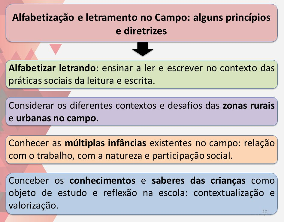 Alfabetização e letramento no Campo: alguns princípios e diretrizes
