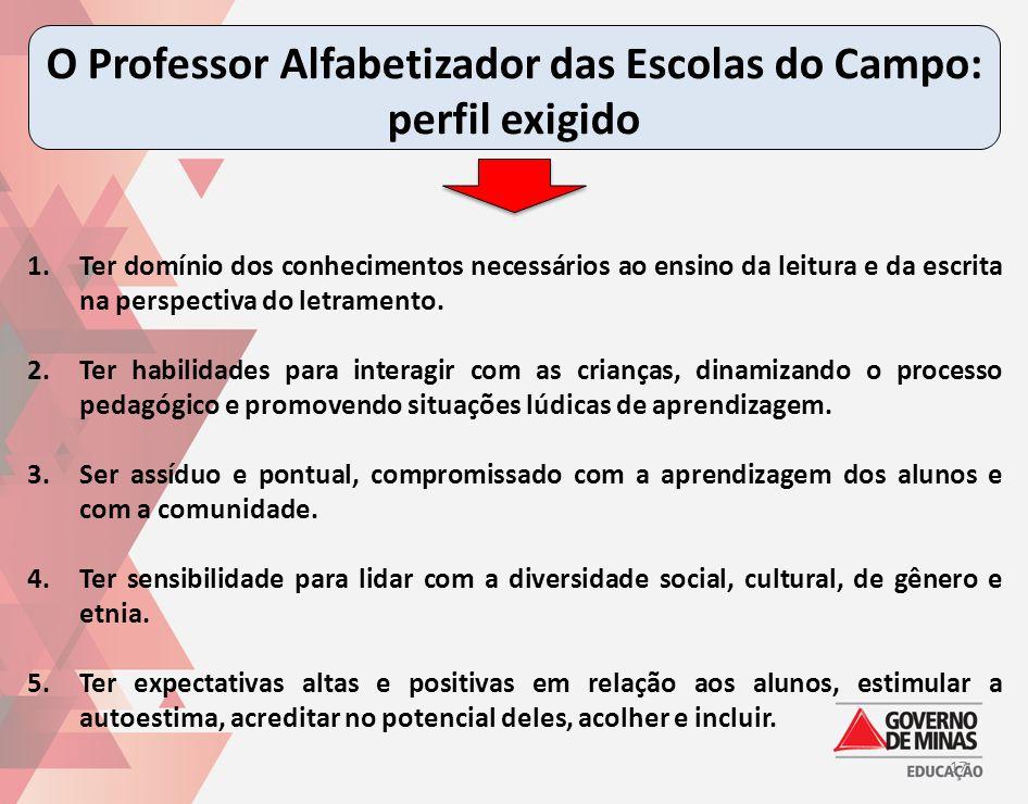 O Professor Alfabetizador das Escolas do Campo: perfil exigido