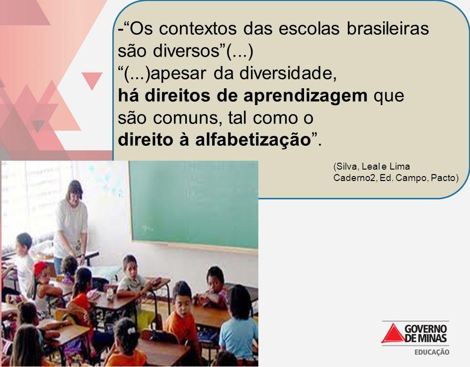 - Os contextos das escolas brasileiras são diversos (...)