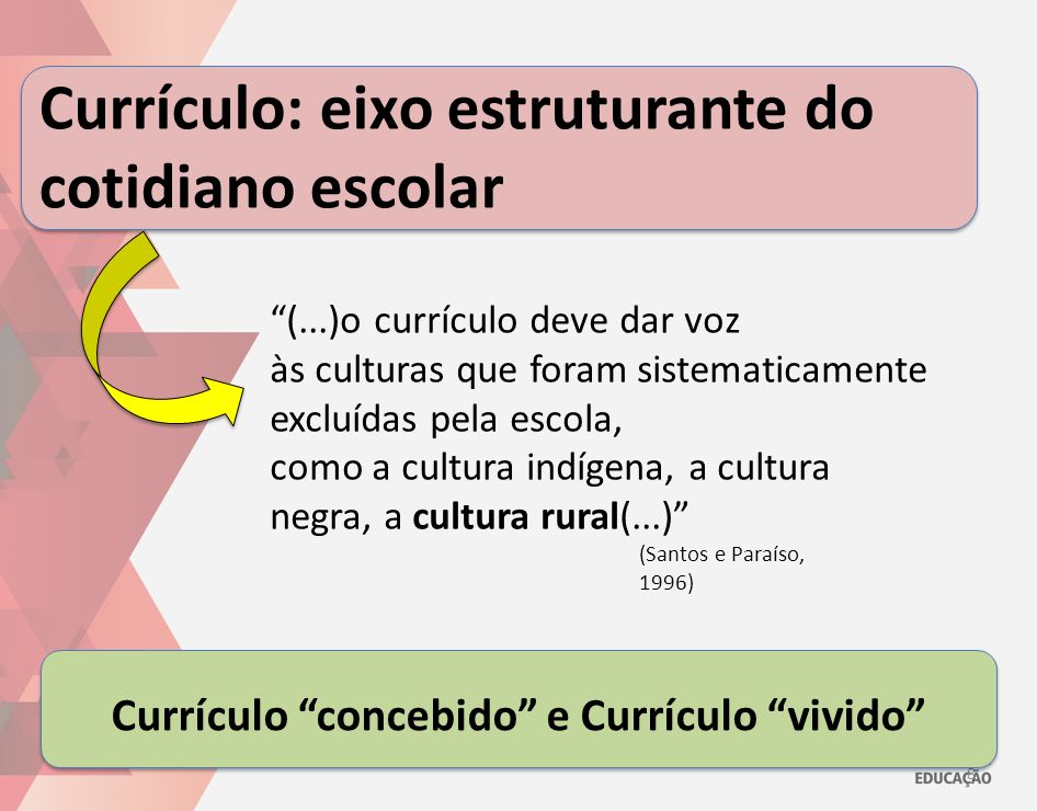 Currículo: eixo estruturante do cotidiano escolar