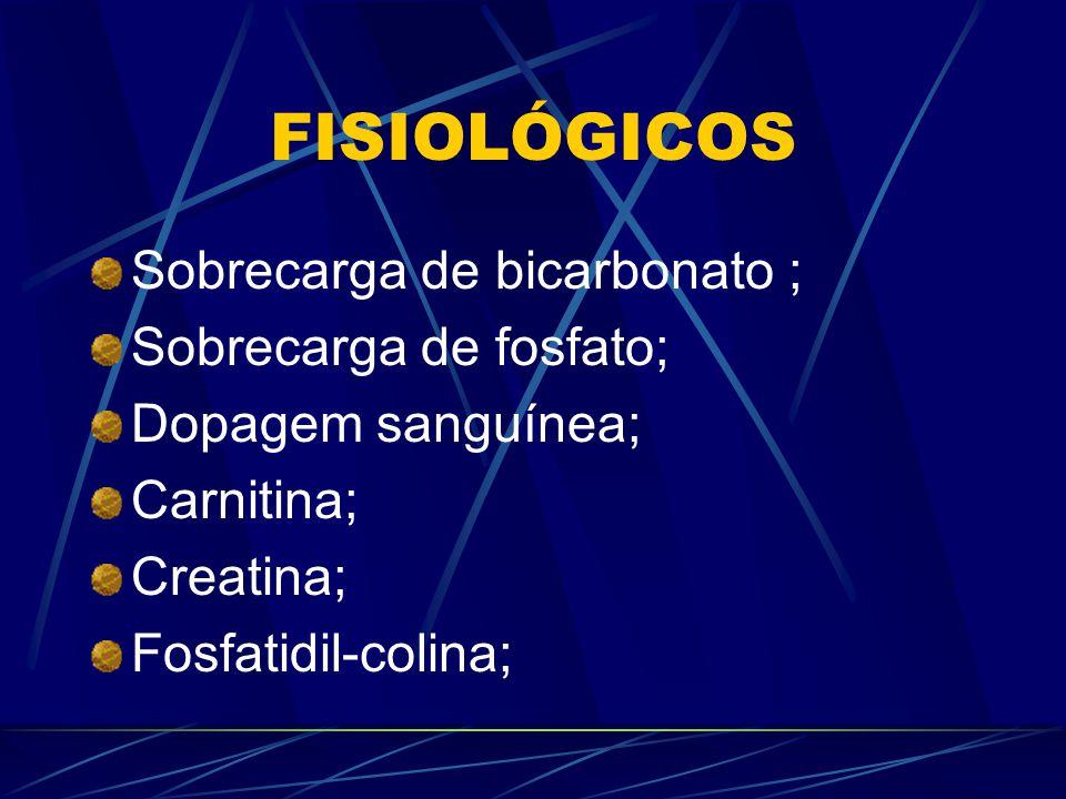 FISIOLÓGICOS Sobrecarga de bicarbonato ; Sobrecarga de fosfato;