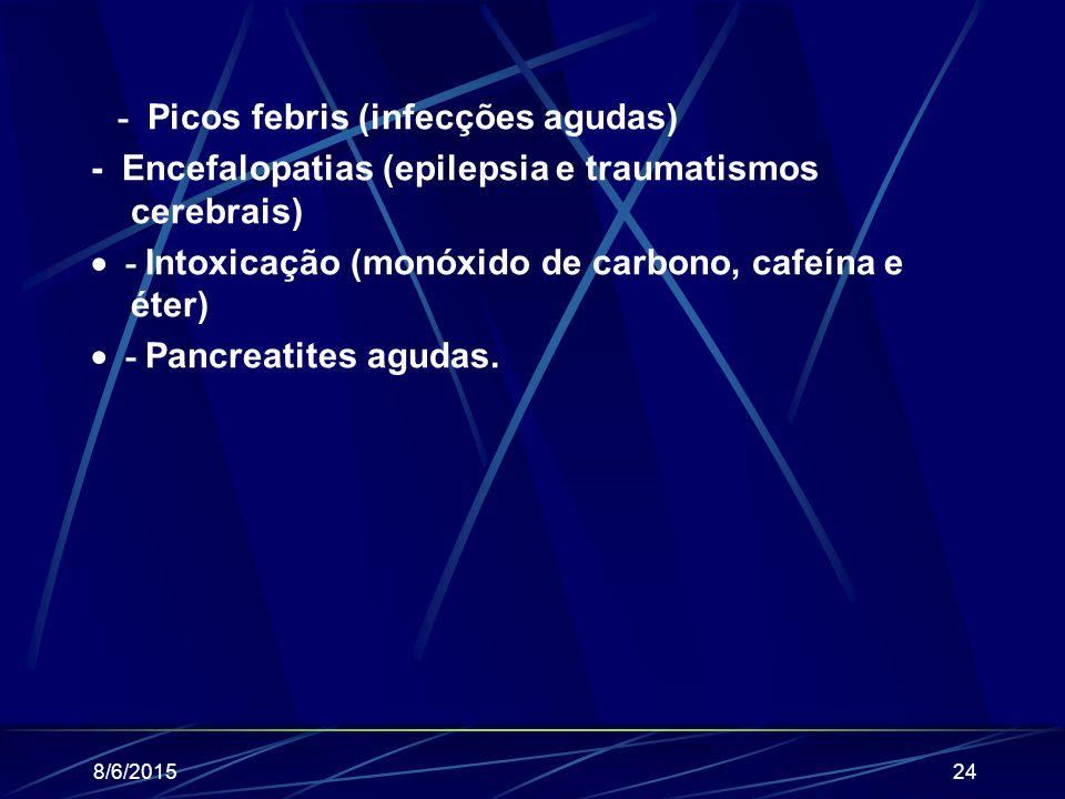 - Picos febris (infecções agudas)