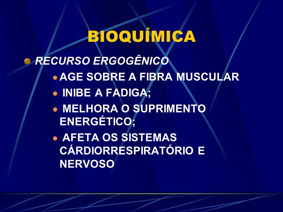BIOQUÍMICA RECURSO ERGOGÊNICO AGE SOBRE A FIBRA MUSCULAR