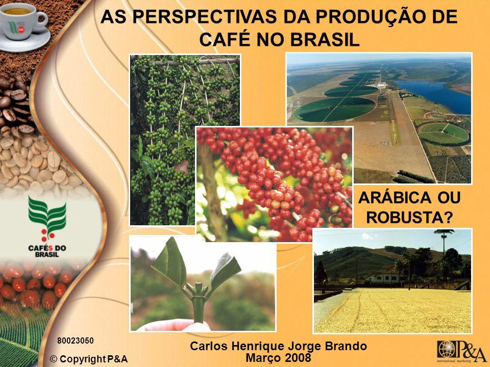 AS PERSPECTIVAS DA PRODUÇÃO DE CAFÉ NO BRASIL