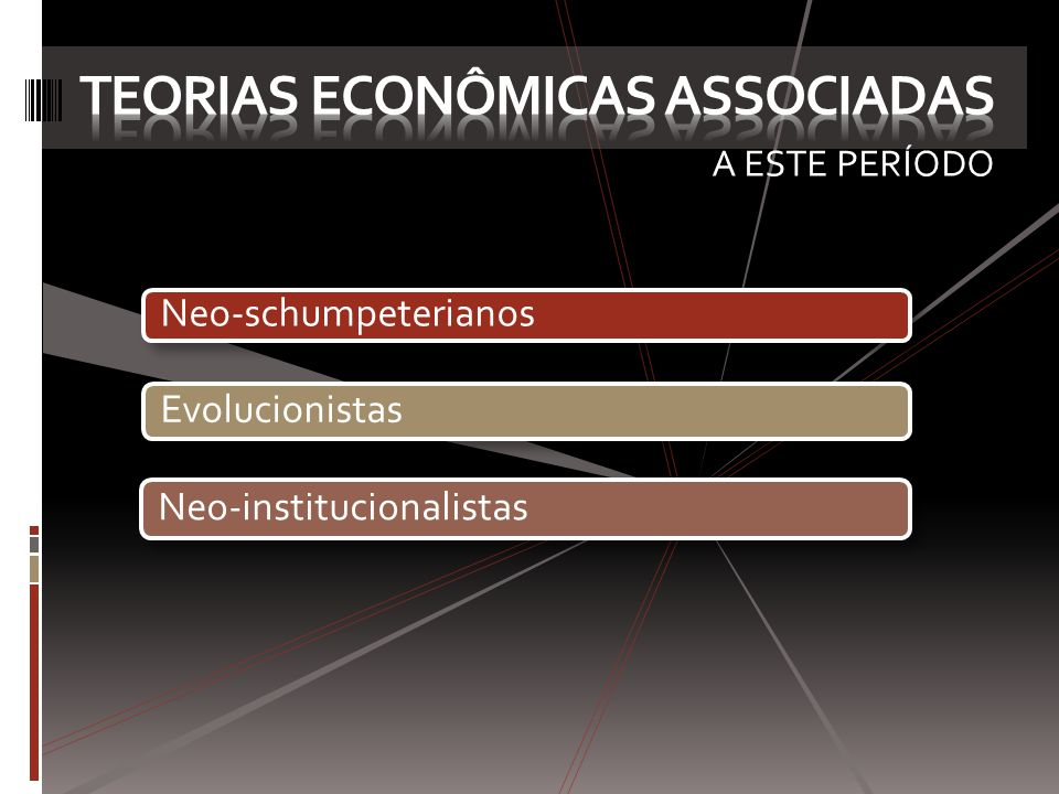 TEORIAS ECONÔMICAS ASSOCIADAS