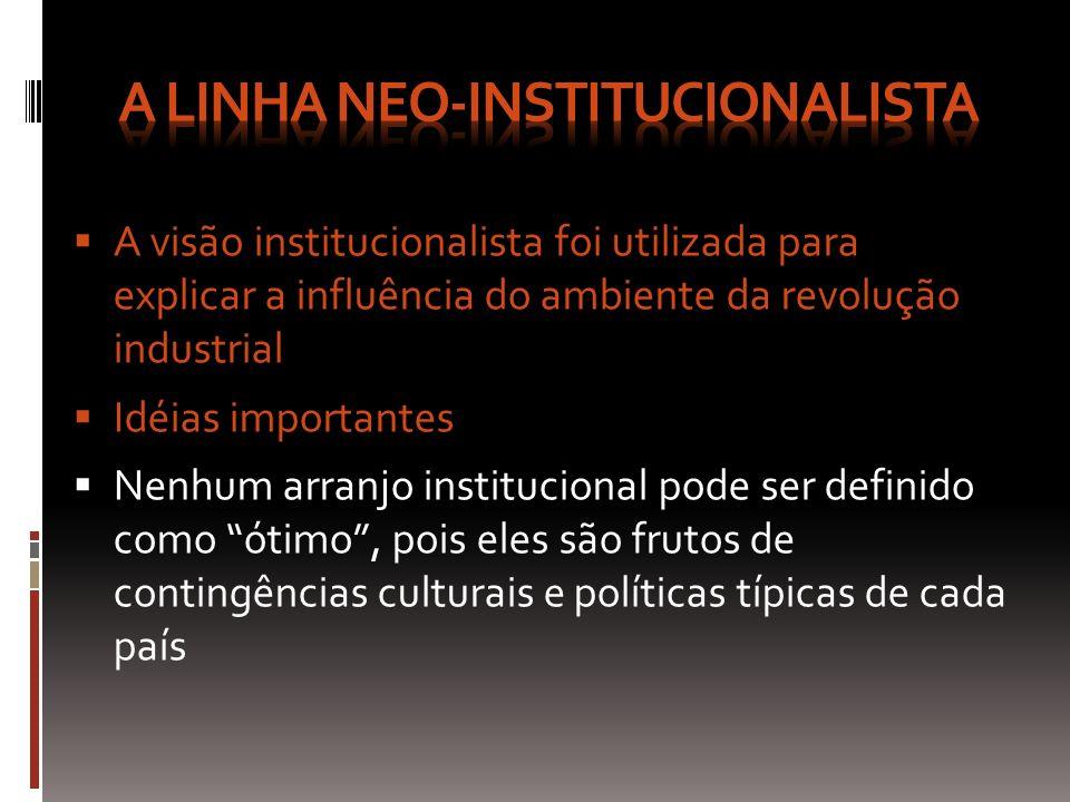 A linha neo-institucionalista