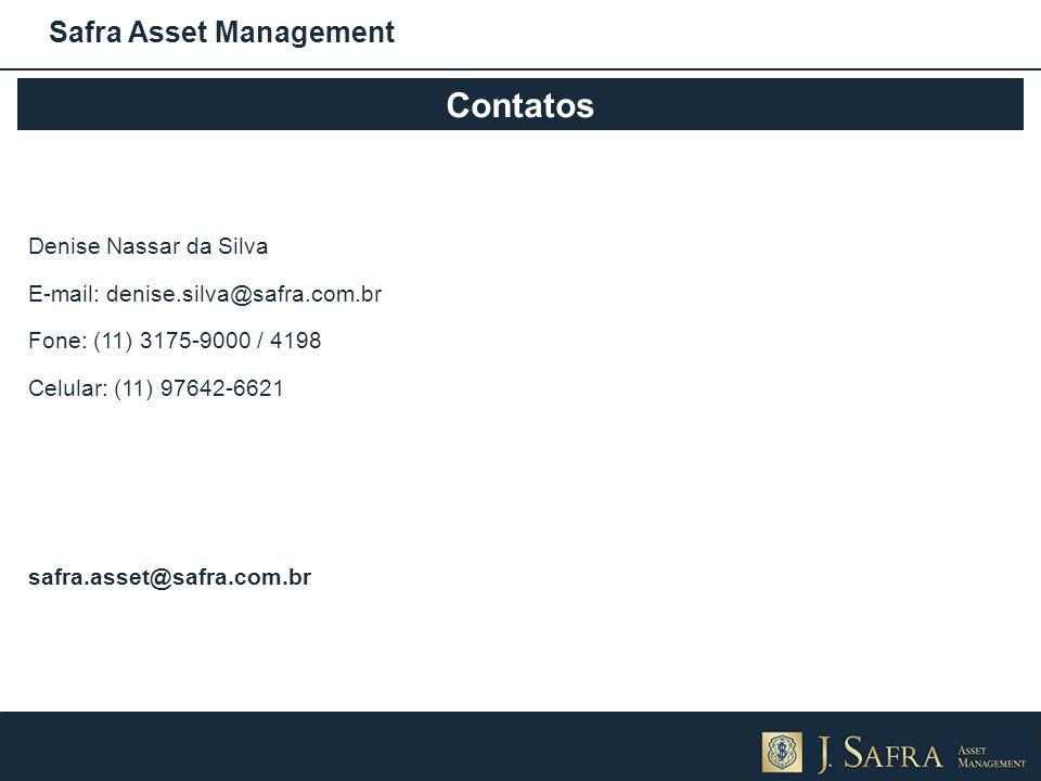 Contatos Safra Asset Management Denise Nassar da Silva