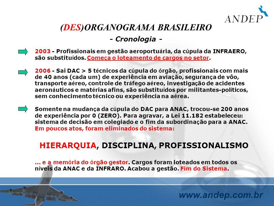 (DES)ORGANOGRAMA BRASILEIRO HIERARQUIA, DISCIPLINA, PROFISSIONALISMO